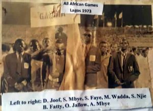 Team Gambia at the All Africa Games in 1973